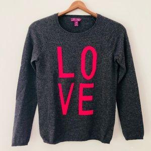 Bloomingdales Aqua Cashmere Love Crew Sweater